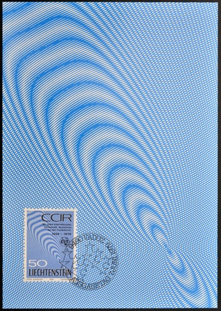 LIECHTENSTEIN - CIRCA 1979  A stamp printed in Liechtenstein dedicated to anniversary of the International Radio Consultative Committee  CCIR , circa 1979 Editorial