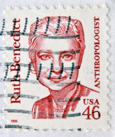 anthropologist: UNITED STATES OF AMERICA - CIRCA 1995: A stamp printed in USA shows Ruth Benedict, anthropologist, circa 1995