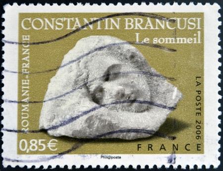 constantin: FRANCE - CIRCA 2006: A stamp printed in France shows Sculptures by Constantin Brancusi, circa 2006  Editorial