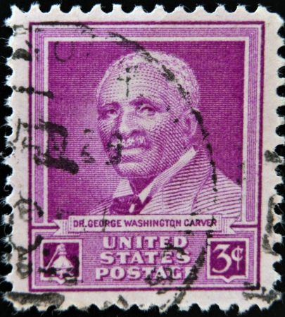 carver: UNITED STATES OF AMERICA - CIRCA 1948   A stamp printed in USA shows Dr George Washington Carver, circa 1948