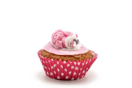 Cupcake, flowers photo