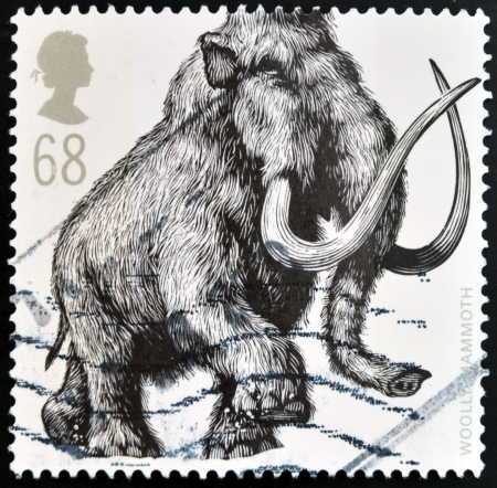 UNITED KINGDOM - CIRCA 2006: A stamp printed in Great Britain shows Woolly Mammoth (Mammuthus primigenius), circa 2006