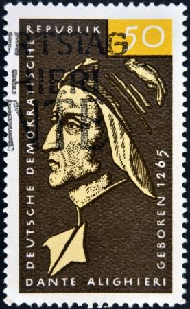 dante alighieri: GERMANY - CIRCA 1979: a stamp printed in Germany shows Dante Alighieri, Italian Poet, circa 1979