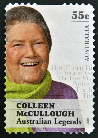 colleen: AUSTRALIA - CIRCA 2010: A stamp printed in Australia shows Colleen McCullough, australian legends, circa 2010