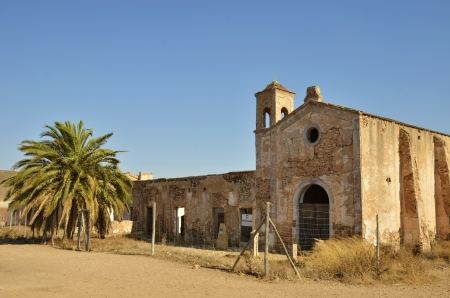 garcia: Cortijo del Fraile, farmhouse where occurred the fact That inspired the book Blood Weddings of Federico Garcia Lorca and the scene of films of the Old West Stock Photo