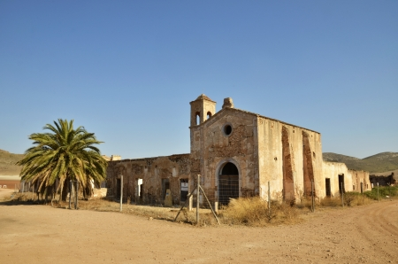 Cortijo del Fraile, farmhouse where occurred the fact That inspired the book Blood Weddings of Federico Garcia Lorca and the scene of films of the Old West Stock Photo - 21789274