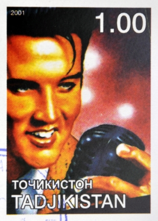 TAJIKISTAN - CIRCA 2001: stamp printed in Tajikistan shows Elvis Presley, circa 2001