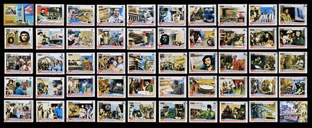 che guevara: CUBA - CIRCA 2009: 50 stamps printed in cuba dedicated to 50 anniversary of the triumph of the revolution, circa 2009