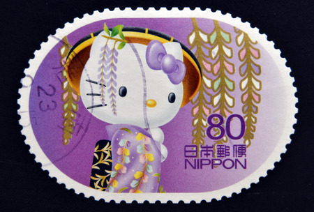 JAPAN - CIRCA 2011: A stamp printed in Japan shows Hello Kitty, circa 2011