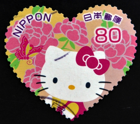 JAPAN - CIRCA 2000: A stamp printed in Japan shows Hello Kitty, circa 2000