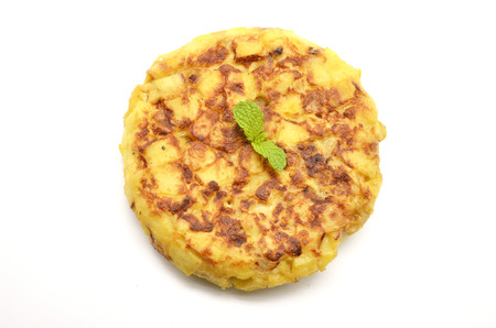 Spanish tortilla (omelet with potatoes and onions)  photo