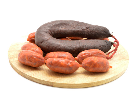 sausage and blood sausage (chorizo y morcilla) photo