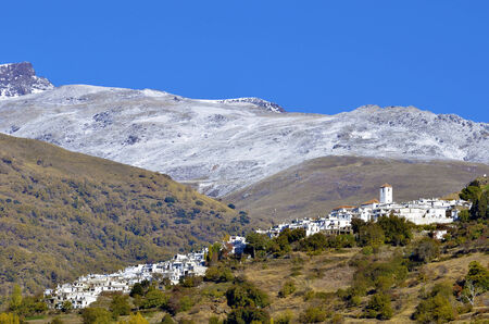 View of Capileira, town in Sierra Nevada, Granada photo
