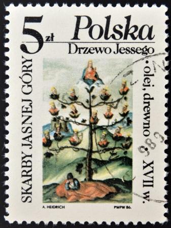 gory: POLONIA - CIRCA 1986: Un timbro stampato in Polonia mostra Sk�rby jasnej cruento, circa 1986 Archivio Fotografico