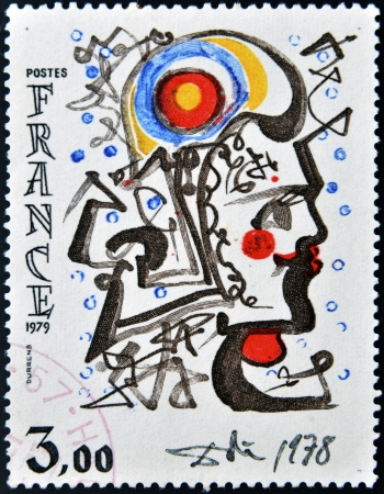 marianne: FRANCE - CIRCA 1979: a stamp printed in France shows Head of Marianne, Painting by Salvador Dali, circa 1979  Editorial