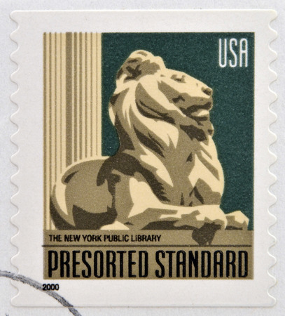 UNITED STATES OF AMERICA - CIRCA 2000: A stamp printed in USA dedicated to The New York Public Library, circa 2000