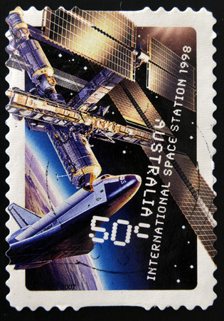 AUSTRALIA - CIRCA 2007: A stamp printed in Australia sshows international space station 1998, circa 2007