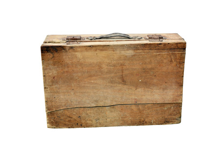 Old wooden suitcase photo