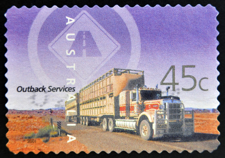 AUSTRALIA - CIRCA 2001: A stamp printed in Australia shows Outback Services, circa 2001  Stock Photo