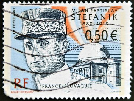 stefanik: FRANCE - CIRCA 2003: stamp printed in France shows Stefanik, circa 2003