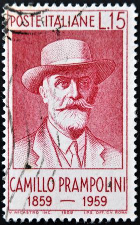 camillo: ITALY - CIRCA 1959: stamp printedin Italy shows Camillo Prampolini, circa 1959  Editorial