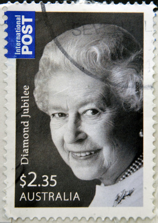 AUSTRALIA - CIRCA 2012: stamp printed in Australia shows Queen Elizabeth II, circa 2012