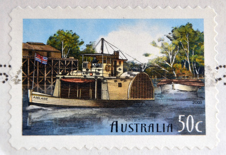 AUSTRALIA - CIRCA 2003: stamp printed in Australia shows Murray River boat, circa 2003