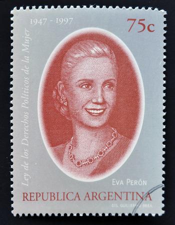 evita: ARGENTINA - CIRCA 1998: a stamp printed in Argentina shows Evita Peron, circa 1998