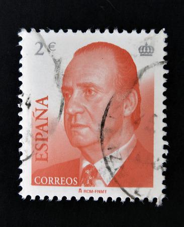 carlos: SPAIN - CIRCA 2005: a stamp printed in the Spain shows King Juan Carlos of Spain, circa 2005