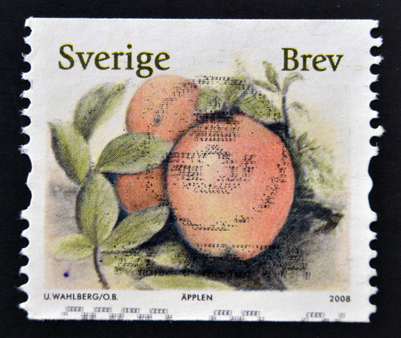 frondage: SWEDEN - CIRCA 2008: stamp printed in Sweden shows Apple, circa 2008 Stock Photo