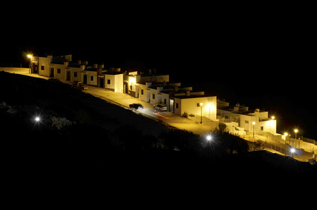 alpujarra: residential area at night in the Alpujarra, Andalusia