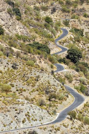 winding road in the Alpujarra, Spain photo