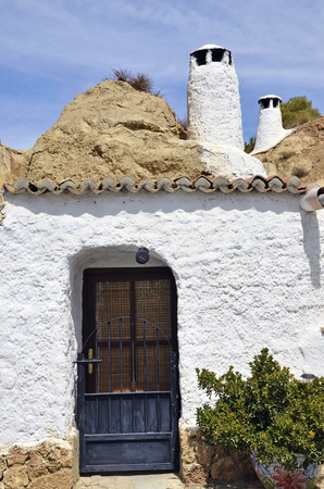 cave house: Cave house in Guadix, Spain