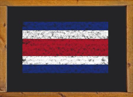 costa rica flag: Costa Rica flag on a blackboard Stock Photo