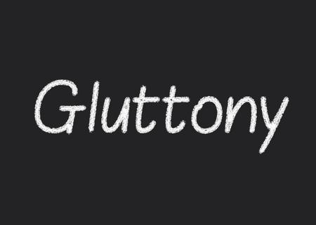 gula: Gula escrito en una pizarra