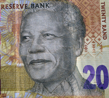 suid: SOUTH AFRICA - CIRCA 2014: Nelson Mandela on 20 Rand 2014 Banknote from South Africa. Editorial