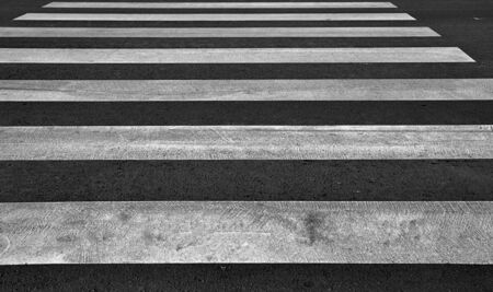 Zebra pedestrian crossing as urban background image. photo