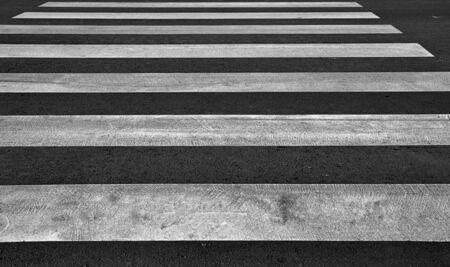 Zebra pedestrian crossing as urban background image. photo