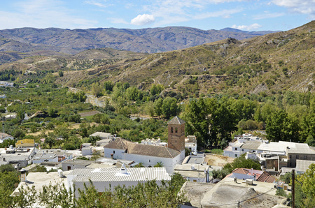 alpujarra: Narila, small town in Granada Stock Photo