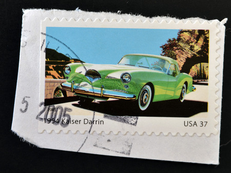 darren: UNITED STATES OF AMERICA - CIRCA 2005: stamp printed in USA shows Sporty Cars, Kaiser Darren, circa 2005 Editorial