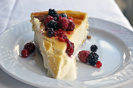 portion of cheesecake