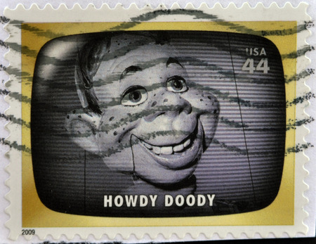 UNITED STATES OF AMERICA - CIRCA 2009: A stamp printed in USA Celebrates Classic TV shows Howdy Doody, circa 2009 Stock Photo