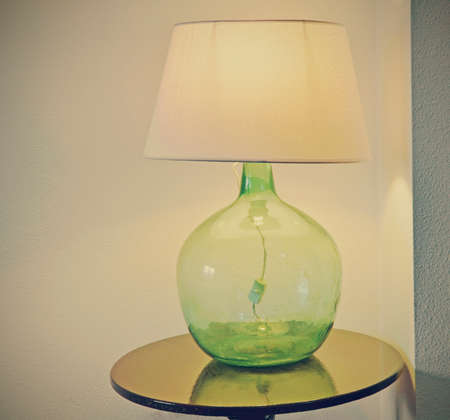 carboy: Table with a retro lamp