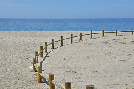 beach access: access to the beach Stock Photo