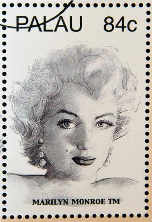 marilyn: PALAU - CIRCA 2006: Stamp printed in Palau shows Marilyn Monroe, circa 2006