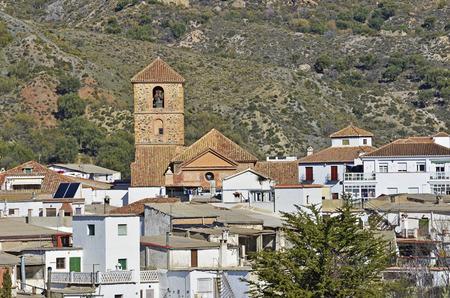 alpujarra: overview of Cadiar, small Moorish village in La Alpujarra. Granada, Spain