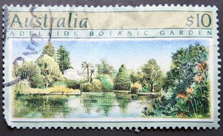 AUSTRALIA - CIRCA 1989:A stamp printed in Australia shows Adelaide botanic garden, circa 1989.