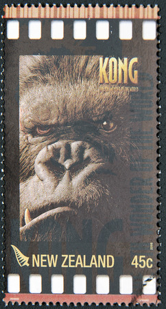 king kong: NEW ZEALAND - CIRCA 2005: A stamp printed in New Zealand shows King Kong, circa 2005 Editorial