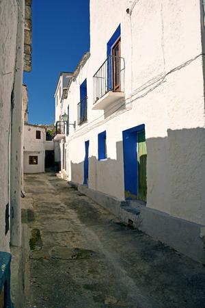 alpujarra: Moorish street in a small people in the Alpujarra, Granada Editorial