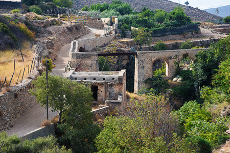 remains: remains of Arab baths and aqueduct, Alpujarra Stock Photo
